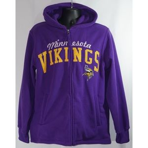 Minnesota Vikings Full Zip Fleece Hoodie Size M